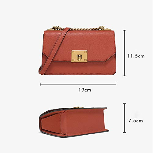 Shoulder crossbody brown Blue Lock Autumn Pattern Gaoqq Metal Bag Ladies' Bag Litchi Z0wB8qax
