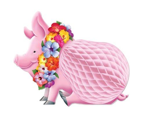 Beistle 55334 Luau Pig Centerpiece, 12-Inch