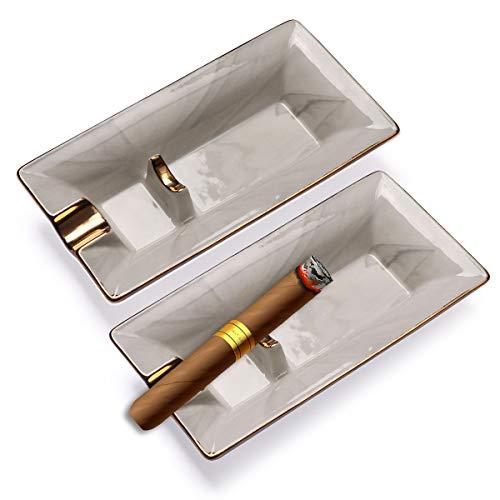 - Scotte Cigar Ashtray top Grade Luxury Ashtray Fashion Household Cigar ashtrays Single Slot Design(Marbling) (Marbling-C)