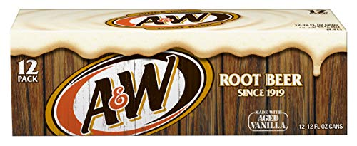 (A&W Root Beer, 12 fl oz cans, 12 count)