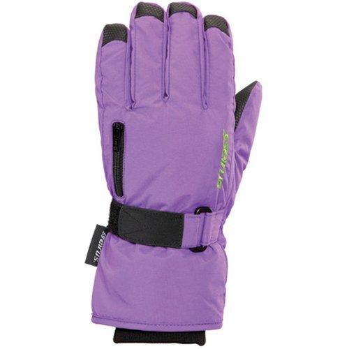 Seirus Innovation Jr Stash Gloves, Large, Purple