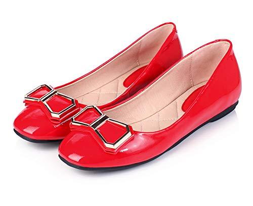 SDC05906 Sandales Compensées AdeeSu Red Femme Z0zzw