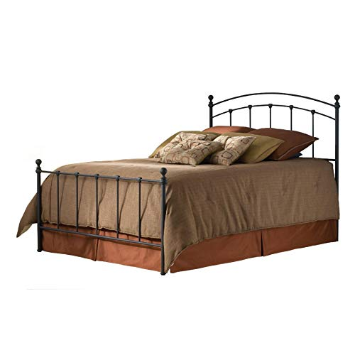 Queen Size Metal Bed with Headboard and Footboard in Matte Black, Queen Size Metal Bed with Headboard and Footboard in Matte Black ()