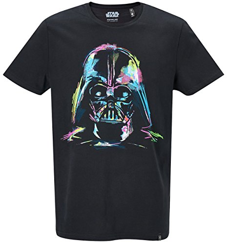 GOZOO Star Wars T-Shirt Herren Darth Vader Neon Sketch Art Schwarz