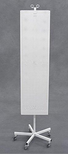 Pegboard Metal Rotating Floor Spinner Retail Store Display Rack Hooks White New by Bentley's Display