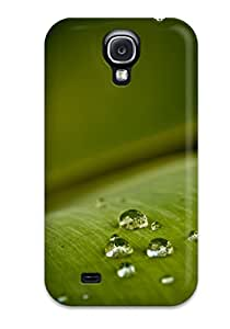 Durable Protector Case Cover With Fresh Dewy Leaf Hot Design For Galaxy S4
