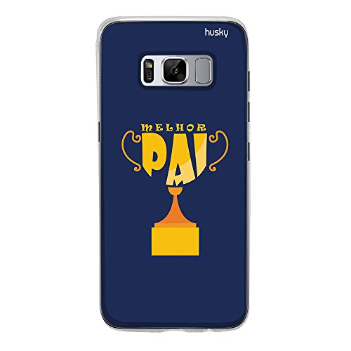 Capa Personalizada Pai Troféu, Husky para Galaxy S8, Capa Protetora para Celular, Multicor