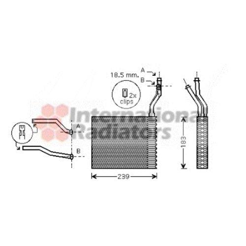 Van Wezel 18006364 Radiador de calefacci/ón