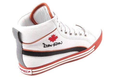 Dsquared Dsquared2 Scarpe Sneakers Alte Uomo in Pelle Nuove Bianco   Amazon.it  Scarpe e borse c57e85c2c18