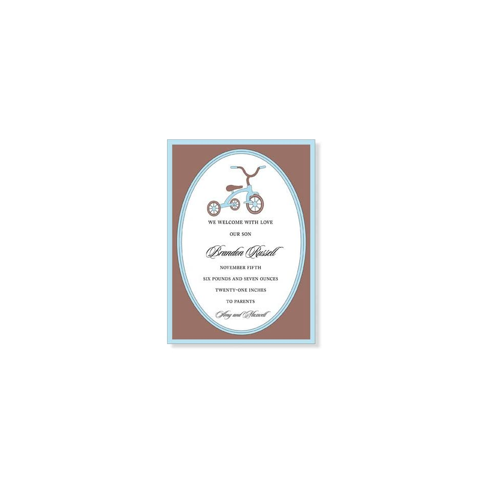 Childrens Birthday Party Invitations   I Like Trike Blue Invitation