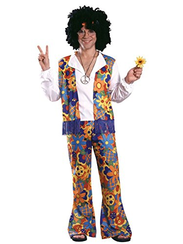 Rubie's 60's Revolution Adult Hippie, Multicolored, One Size Costume]()