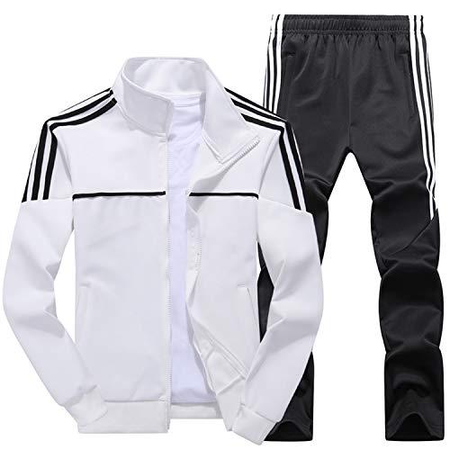 Men Chaqueta Para Hombre White Asia Set Conjunto 4xl 2 Sportswear M Traje Pantalón Tamaño Winter Chándal De Piezas New Autumn Deportivo dBaZPd6