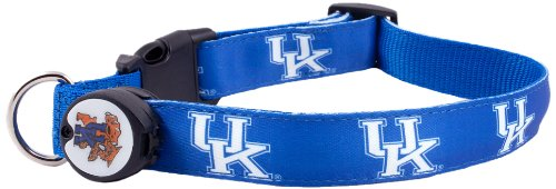 Dog-E-Glow University of Kentucky Wildcats Lighted LED Dog Collar, Large, 15-Inch by 21-Inch
