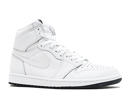 Nike Heren Air Jordan 1 Mid Basketbalschoen Wit / Zwart-wit