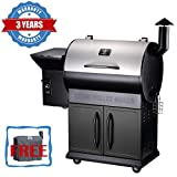 Z GRILLS Wood Pellet Grill 8-in-1 BBQ Smoker with Newest Updated Digital Control(Waterproof Cover Included)