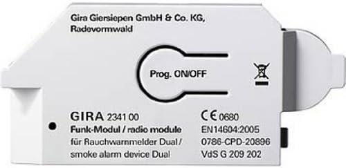 GIRA 234700 accesorio para detector - Alarmas y Accesorios para detectores (Detector de humos, 1 pieza(s), Dual Q, CE)