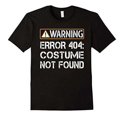 [Men's Funny Programmer - Warning Error 404 Costume Not Found Shirt XL Black] (Costume Not Found 404)