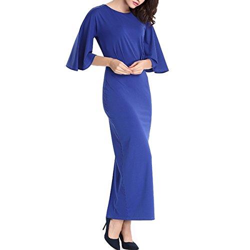 KAXIDY Vestito Donna Blu Vestiti Eleganti Vestito Donna Lungo Vestito da Sera
