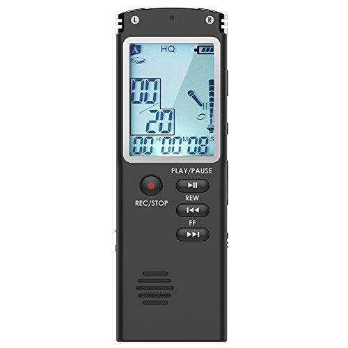 Digital Voice Recorder, DREAMRY 8GB USB Audio Recorder with Mp3 Player,...