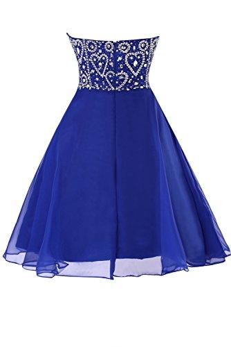 Dasior Empire Homecoming Sweetheart Waist Women's Short Grey Chiffon Dress Steel Crystals R15rtRwq
