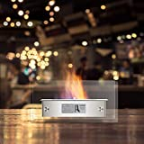 Tangkula Tabletop Fireplace Portable Stainless