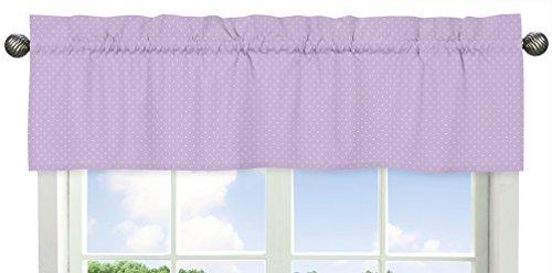 Sweet Jojo Designs Mini White Polka Dot Window Valance for Purple and Brown Mod Dots Collection