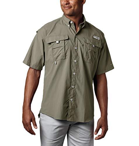 Columbia Men's PFG Bahama II Short Sleeve Shirt, Sage, Xl