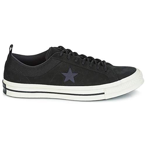 Leather Hombres 45 Zapatillas One Bajas Negro Moda Ox Star Converse HaAxqEw