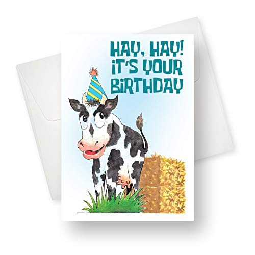 [48 Pack] Northern Cards - Milk It (Birthday) Premium Quality Greeting Card with Unique Cow Design - 5.5