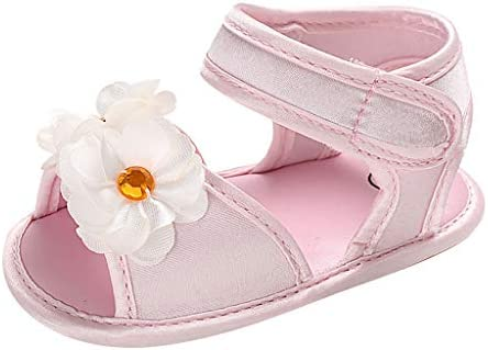 Voberry Baby Girls Moccasins Newborn First Walker Mary Jane PU Soft Sole Sandal Princess Shoes