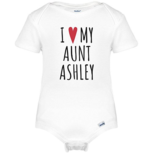 I Heart My Aunt Ashley: Infant Gerber Onesies by FUNNYSHIRTS.ORG