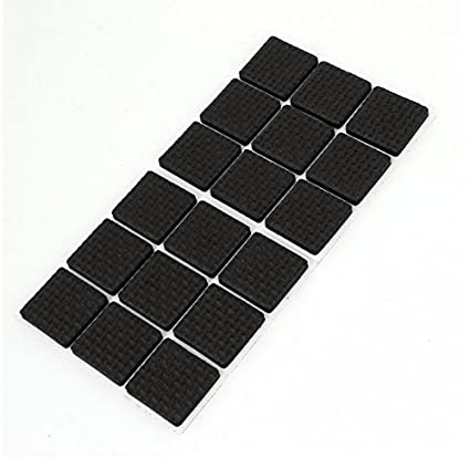 MK 6 Pcs Self Adhesive Square Shape Rubber Pads for Furniture Floor Scratch Protection