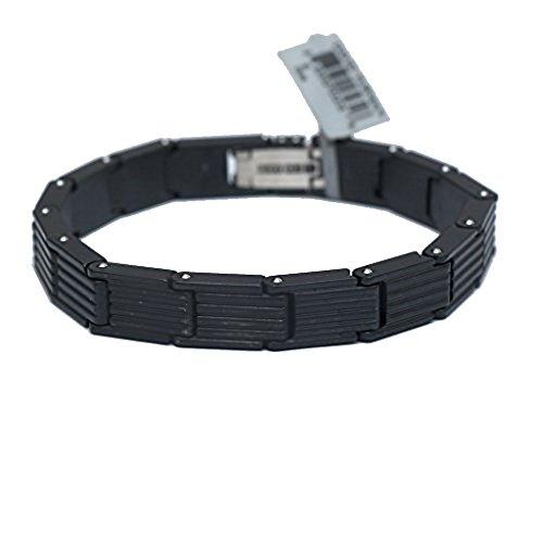 DAVID YURMAN Men's Royal Cord Hinged Link Bracelet in Titanium & Silver. 14B