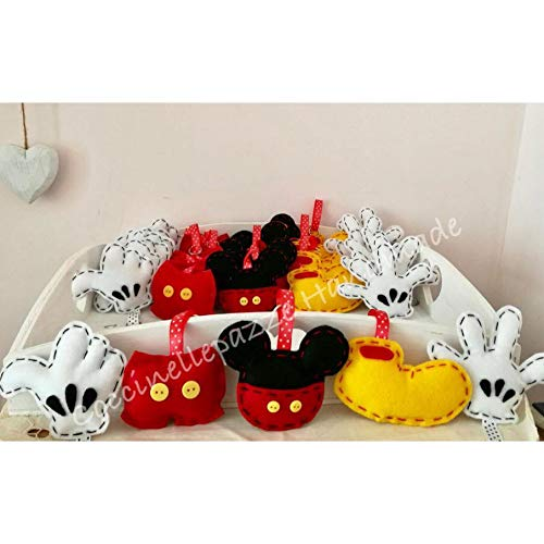 10 Pezzi Mickey Mouse Topolino Party Portachiavi In Feltro