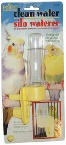 JW Pet Company Clean Water Silo Waterer Bird Accessory, Regular (Colors Vary) by JW Pet