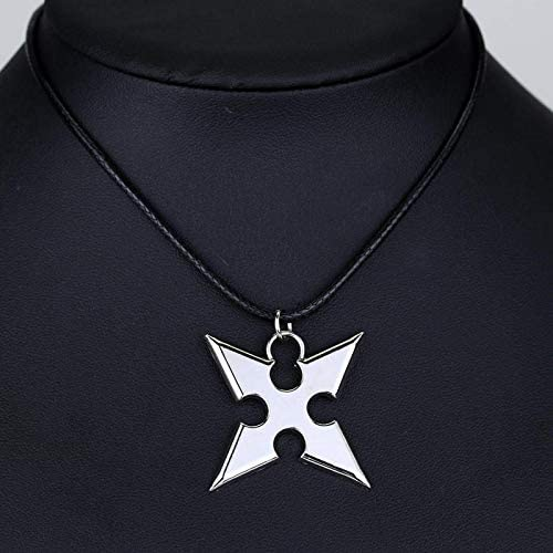 Mens necklace Anime Kingdom Hearts Cosplay Necklace Crown Pendant Key Blade Necklace Hot Sale Silver Plated Jewelry Zinc Alloy Jewelry