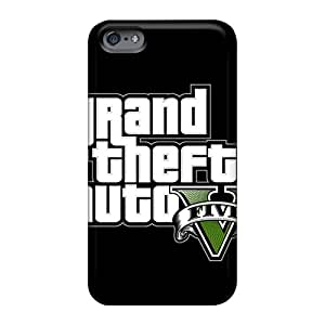 Bumper Hard Phone Cases For Apple Iphone 6 Plus With Provide Private Custom Attractive Gta5 Logo Iphone Wallpaper Skin AlainTanielian
