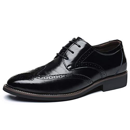 Succès 48 Noir Cuir Plus Business Bottes Taille Respirant La En Hommes Luxe Chaussures Delamode gAq7Z
