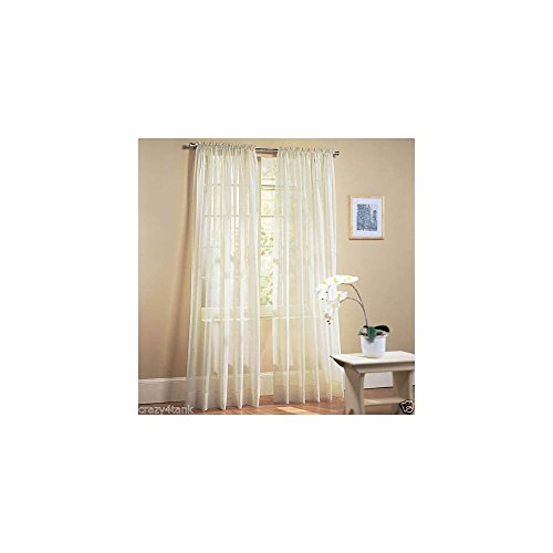 Bright Cheery, Light And Airy Marjorie Sheer Voile Curtain