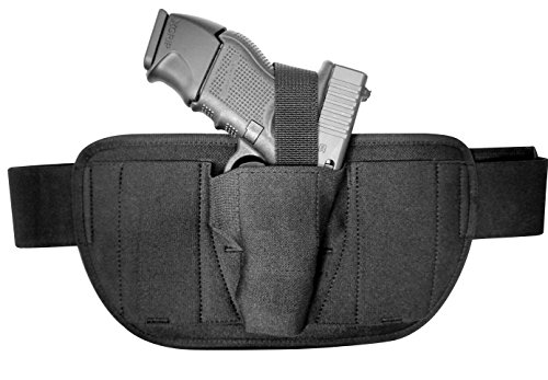 DTOM Compact Comfort Padded Belly Band Holster for Concealed Carry | Fits Most Common Compact and subcompact CCW Guns Such as Glock 19, Ruger LC9, SR9c, | for Men and Women | Ambidextrous