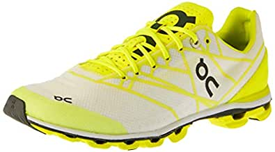On Women's Cloudflash Running Shoes, White/Lime, 7 AU