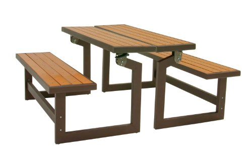 081483009322 - Lifetime 60054 Convertible Bench / Table, Faux Wood Construction carousel main 2