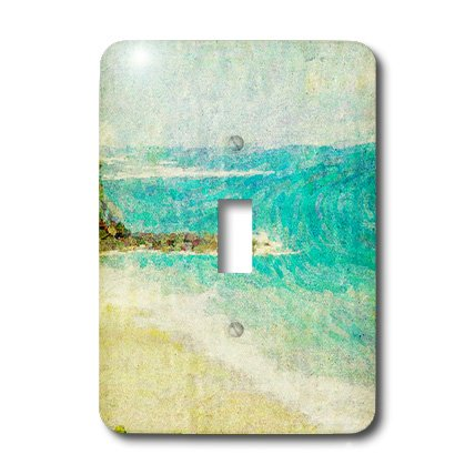 3dRose LLC lsp_47229_1 Blue Ocean Art Hawaii Travel Beach Single Toggle Switch by 3dRose