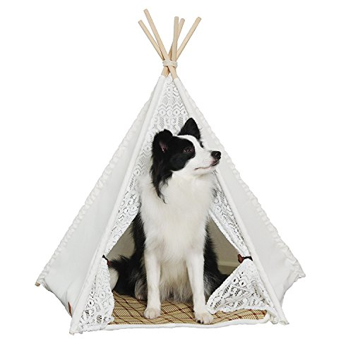 Little Dove Pet Teepee Dog Amp Cat Bed Portable Dog Tents