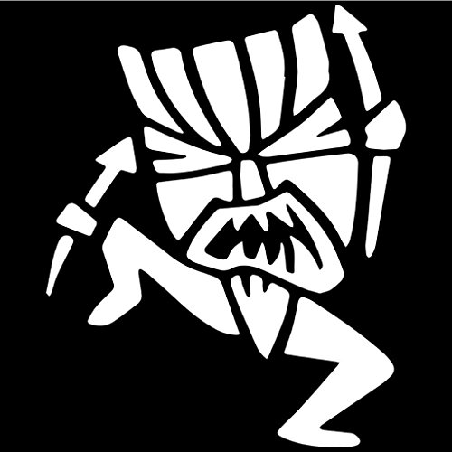 Tiki Girl Jewelry (Witch Doctor Tiki Man Decal Vinyl Sticker|Cars Trucks Walls Laptop|WHITE|6 X 4.9 In|KCD386)