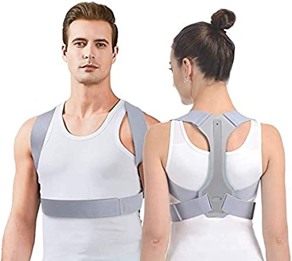 SooFam Posture Corrector for Men and Women FDA Approved Adjustable Upper Back Brace for Support and Spinal Alignment, Providing Shoulder-Neck-Back Pain Relief(M)