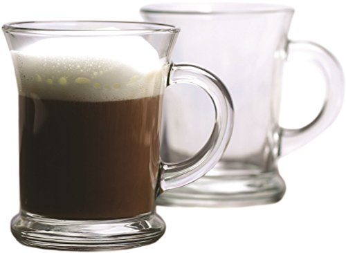 Circleware 51262 Flavor Heavy Base Glass Coffee and Tea Mugs, Set of 4, 12 oz., Clear