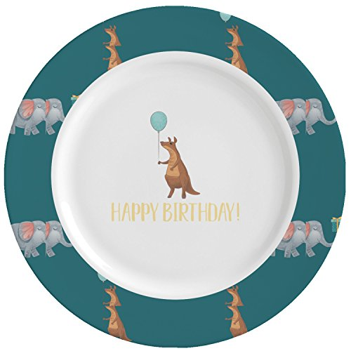 Animal Friend Birthday Ceramic Dinner Plates (Set of 4) (Personalized) by RNK Shops