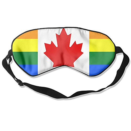 Canada Pride Flag Adult Children Unisex Sleeping Eye Mask Natural Silk Cover With Adjustable Strap Blindfold Super-smooth - Lenses Canada Circle