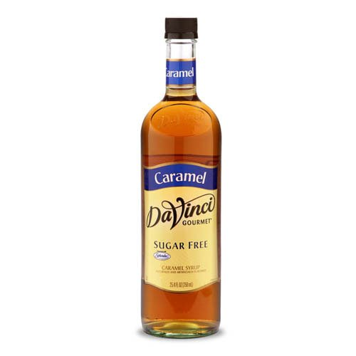 Da Vinci Sugar Free Syrups - DaVinci Gourmet Coffee Syrup, Sugar-Free Caramel, 25.4 Ounce Bottle (Pack of 4)